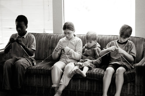 Kids knitting blog