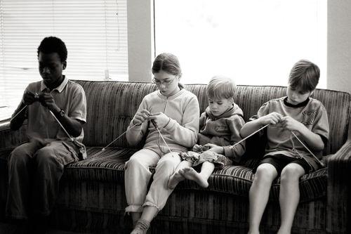 Kids knitting blog